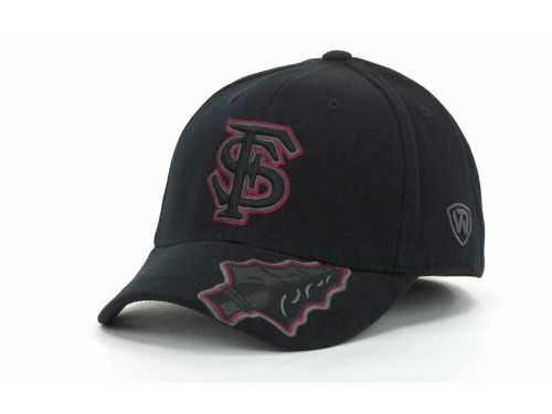 Florida State Seminoles Top of the World NCAA Stride Black Cap Hats