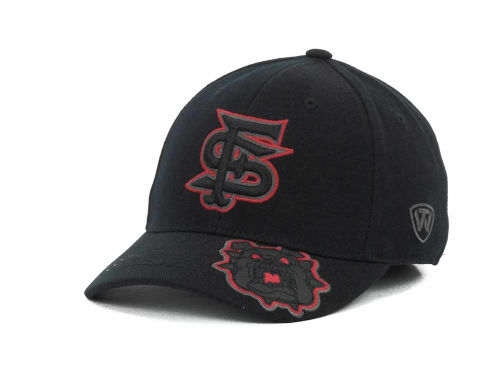 Fresno State Bulldogs Top of the World NCAA Stride Black Cap Hats