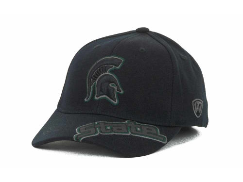 Michigan State Spartans Top of the World NCAA Stride Black Cap Hats