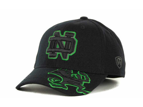 Notre Dame Fighting Irish Top of the World NCAA Stride Black Cap Hats