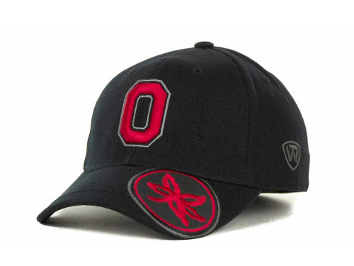 Ohio State Buckeyes Top of the World NCAA Stride Black Cap Hats