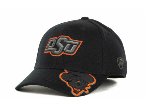 Oklahoma State Cowboys Top of the World NCAA Stride Black Cap Hats