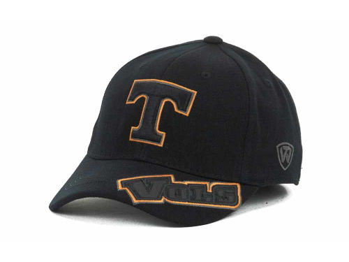 Tennessee Volunteers Top of the World NCAA Stride Black Cap Hats