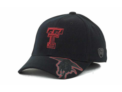 Texas Tech Red Raiders Top of the World NCAA Stride Black Cap Hats