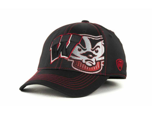 Wisconsin Badgers Top of the World NCAA Hidden Dip Cap Hats