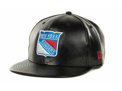 New York Rangers NHL Leather Strapback 9FIFTY Cap Hats