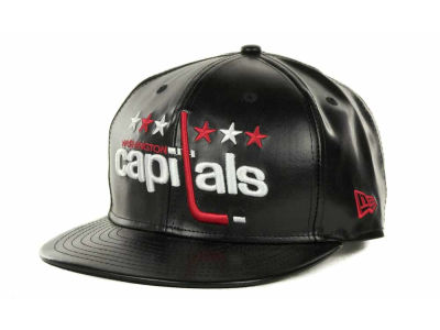 Washington Capitals NHL Leather Strapback 9FIFTY Cap Hats