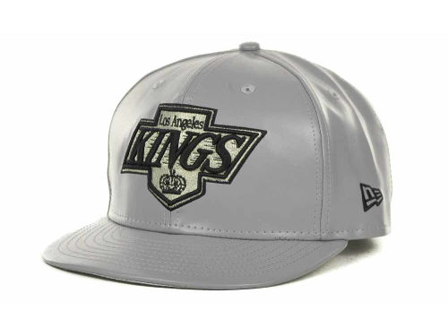 Los Angeles Kings New Era NHL Leather Strapback 9FIFTY Cap Hats