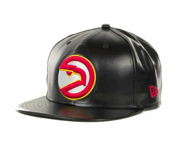 Atlanta Hawks NBA Hardwood Classics Leather Strapback 9FIFTY Cap Hats
