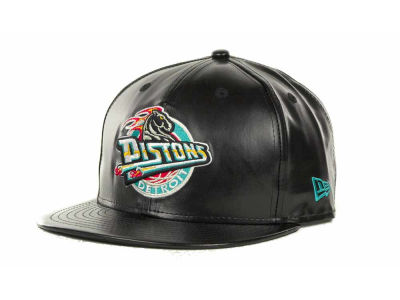 Detroit Pistons NBA Hardwood Classics Leather Strapback 9FIFTY Cap Hats