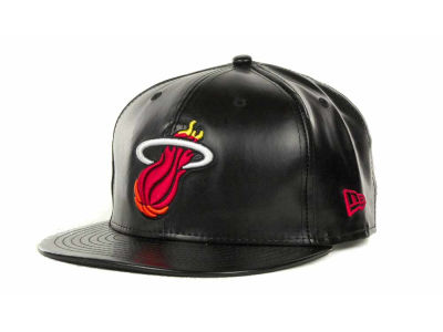 Miami Heat NBA Hardwood Classics Leather Strapback 9FIFTY Cap Hats