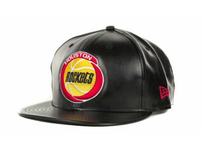 Houston Rockets NBA Hardwood Classics Leather Strapback 9FIFTY Cap Hats