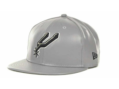 San Antonio Spurs NBA Hardwood Classics Leather Strapback 9FIFTY Cap Hats