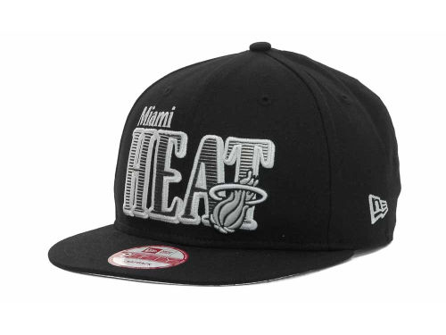 Miami Heat New Era NBA Hardwood Classics Court Lines 9FIFTY Cap Hats