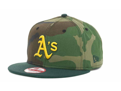 Oakland Athletics New Era MLB Camoback Strapback 9FIFTY Cap Hats