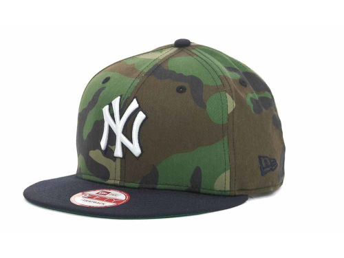 New York Yankees New Era MLB Camoback Strapback 9FIFTY Cap Hats