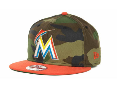 Miami Marlins MLB Camoback Strapback 9FIFTY Cap Hats
