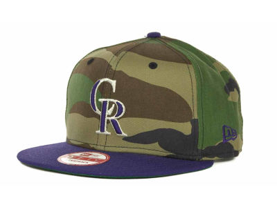 Colorado Rockies MLB Camoback Strapback 9FIFTY Cap Hats