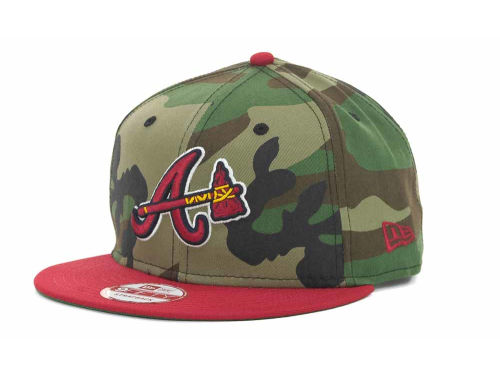 Atlanta Braves New Era MLB Camoback Strapback 9FIFTY Cap Hats