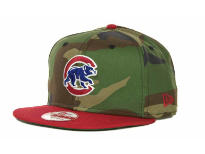 Chicago Cubs MLB Camoback Strapback 9FIFTY Cap Hats