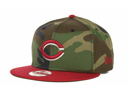Cincinnati Reds New Era MLB Camoback Strapback 9FIFTY Cap Hats