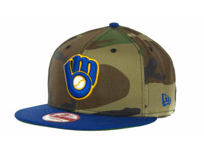 Milwaukee Brewers MLB Camoback Strapback 9FIFTY Cap Hats