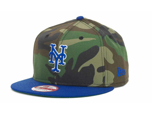New York Mets New Era MLB Camoback Strapback 9FIFTY Cap Hats