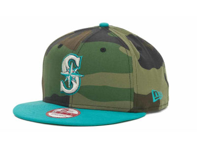 Seattle Mariners MLB Camoback Strapback 9FIFTY Cap Hats
