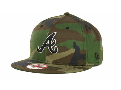 Atlanta Braves MLB Camoback Strapback 9FIFTY Cap Hats