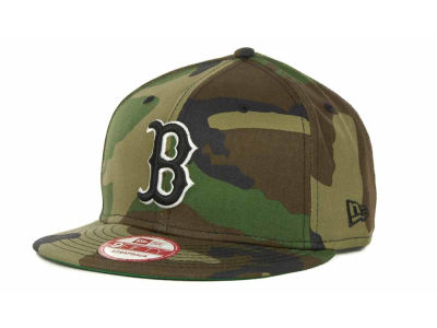 Boston Red Sox MLB Camoback Strapback 9FIFTY Cap Hats
