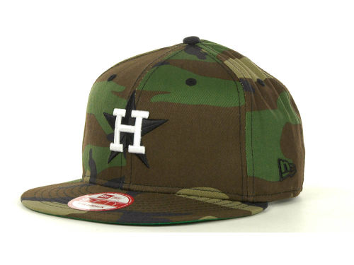 Houston Astros New Era MLB Camoback Strapback 9FIFTY Cap Hats