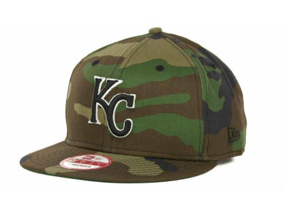 Kansas City Royals MLB Camoback Strapback 9FIFTY Cap Hats