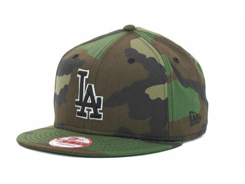 Los Angeles Dodgers New Era MLB Camoback Strapback 9FIFTY Cap Hats