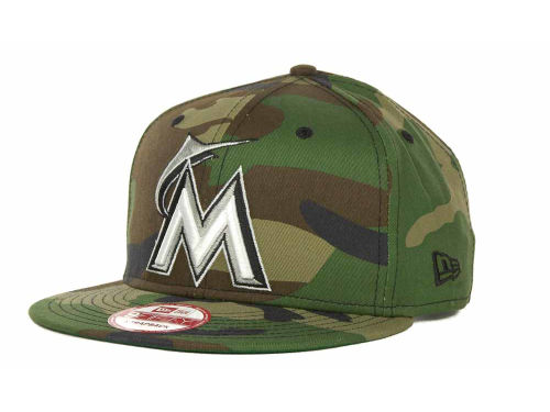 Miami Marlins New Era MLB Camoback Strapback 9FIFTY Cap Hats