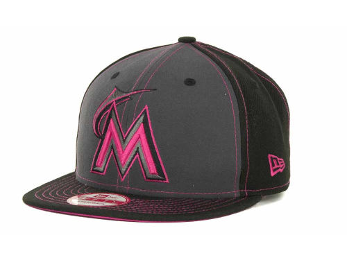Miami Marlins New Era MLB StrapInPop Strapback 9FIFTY Cap Hats