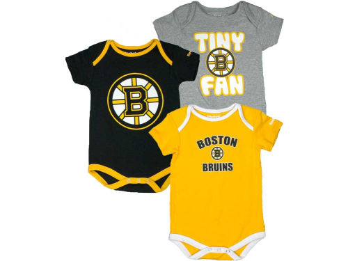 Boston Bruins Reebok NHL Newborn 3pc Foldover Neck Creeper Set