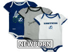 Tampa Bay Lightning Reebok NHL Newborn 3pc Foldover Neck Creeper Set Infant Apparel