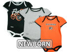 Philadelphia Flyers Reebok NHL Newborn 3pc Foldover Neck Creeper Set Infant Apparel