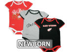 Detroit Red Wings Reebok NHL Newborn 3pc Foldover Neck Creeper Set Infant Apparel