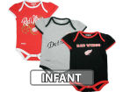 Detroit Red Wings Reebok NHL Infant 3 PC Foldover Neck Creeper Set Infant Apparel