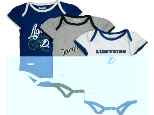 Tampa Bay Lightning Reebok NHL Infant 3 PC Foldover Neck Creeper Set
