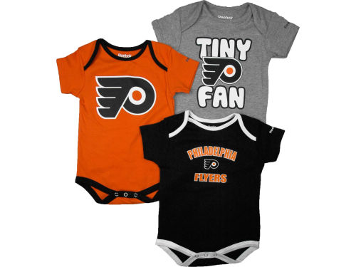 Philadelphia Flyers Reebok NHL Infant 3 PC Foldover Neck Creeper Set