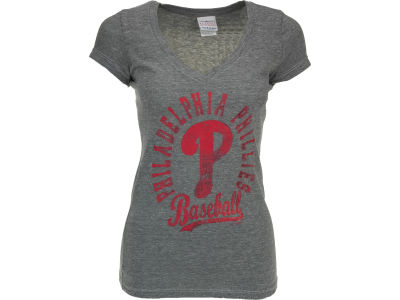 Philadelphia Phillies MLB Womens V-Neck Foil T-Shirt