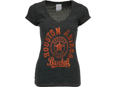 Houston Astros MLB Womens V-Neck Foil T-Shirt