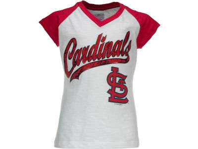 St. Louis Cardinals MLB Girls Foil Raglan T-Shirt