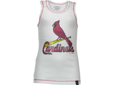 St. Louis Cardinals MLB Girls Glitter Rib Tank