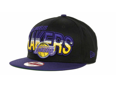 Los Angeles Lakers NBA Hardwood Classics Split Line Snapback 9FIFTY Cap Hats