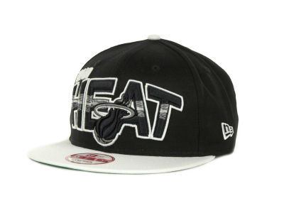 Miami Heat NBA Hardwood Classics Split Line Snapback 9FIFTY Cap Hats