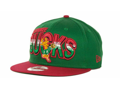 Milwaukee Bucks NBA Hardwood Classics Split Line Snapback 9FIFTY Cap Hats