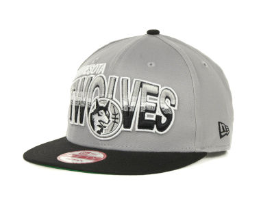 Minnesota Timberwolves NBA Hardwood Classics Split Line Snapback 9FIFTY Cap Hats